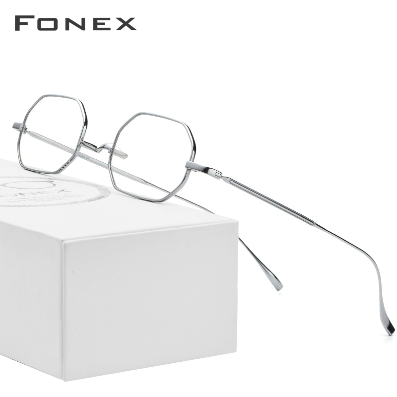 B Titanium Glasses Frame Women Ultralight Men Small Eyeglasses Prescription Myopia Optical Frames Retro Eye Glasses