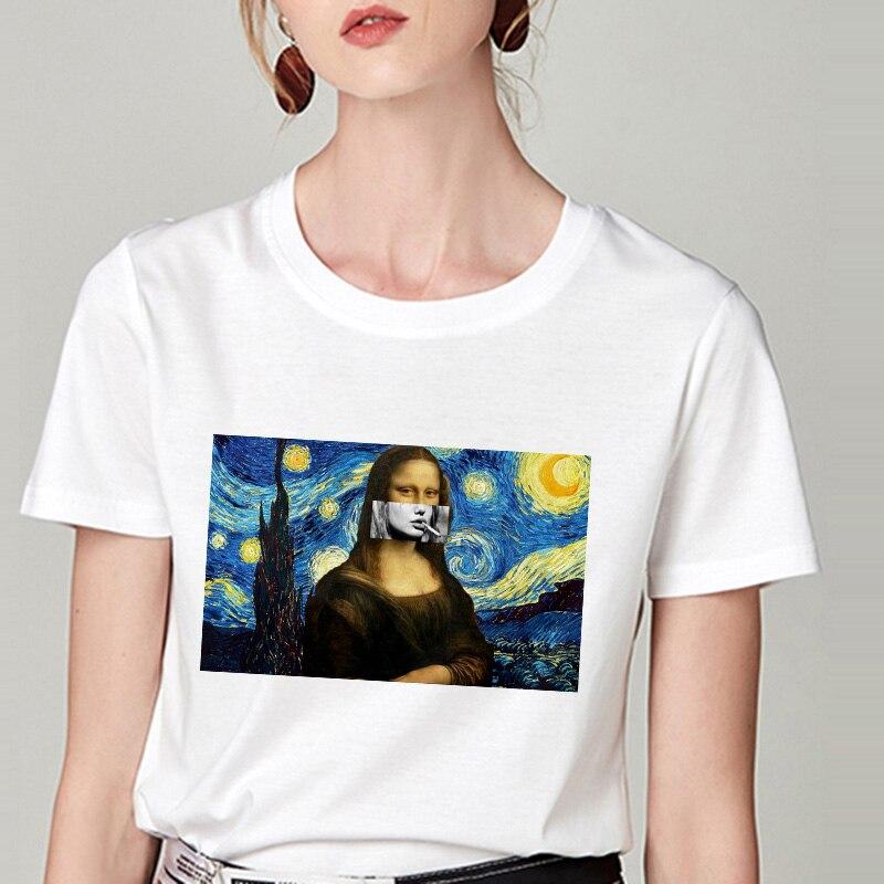 Summer Tshirt Snow White Fun Fashion Printed T-shirt Spoof Personality Harajuku Funny Casual Thin Section T Shirt Women Clothing 15