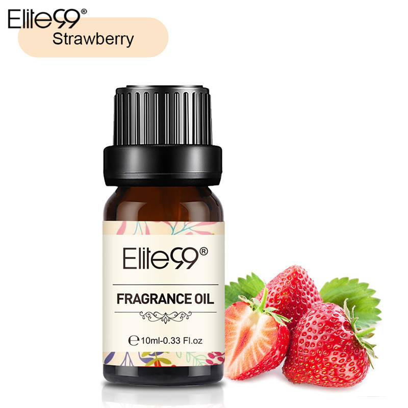 Elite99 Strawberry Fragrance Oil 10ML Flower Fruit Pure Essential Oil Relax Diffuser Lamp Air Fresh Massage100% Natural Relax