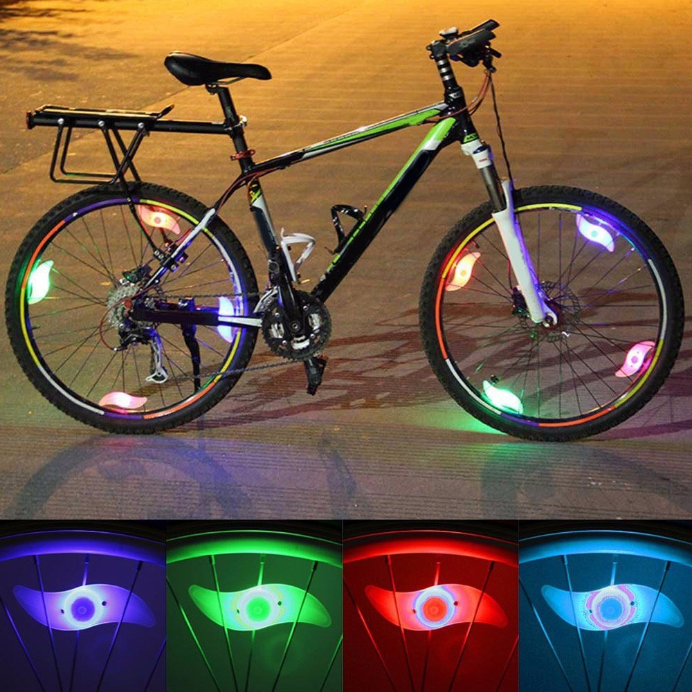 NEWKBO 4 Color Bicycle Cycling Wheel Spoke Light 3 Modes Bright LED Lamp For Bike Decoration Safety And Warning At Night