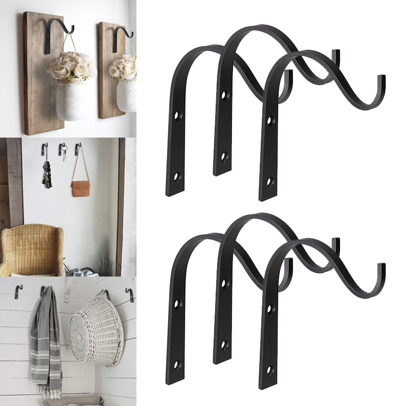 4 Pcs / 10 Pcs Iron Hanger Wall Hooks For Hanging Lantern Lantern Planter Jacket Hooks Rustic Home Decoration