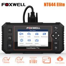 Foxwell – NT644 Elite outil professionnel de Diagnostic de voiture, Scanner automatique, système complet, 19 services de réinitialisation, prise OBD2