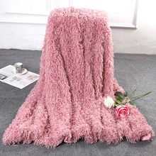 Velvet Fluffy Warm Blanket Soft Thicken Blankets Throw on Sofa Chaise Longue Travel Baby Bedspread(China)