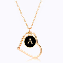 2019 Kolye Collares Choker Amazon Product 26 English Letters Pendant Necklace Jewelry Contracted Plating Necklaces Wholesale