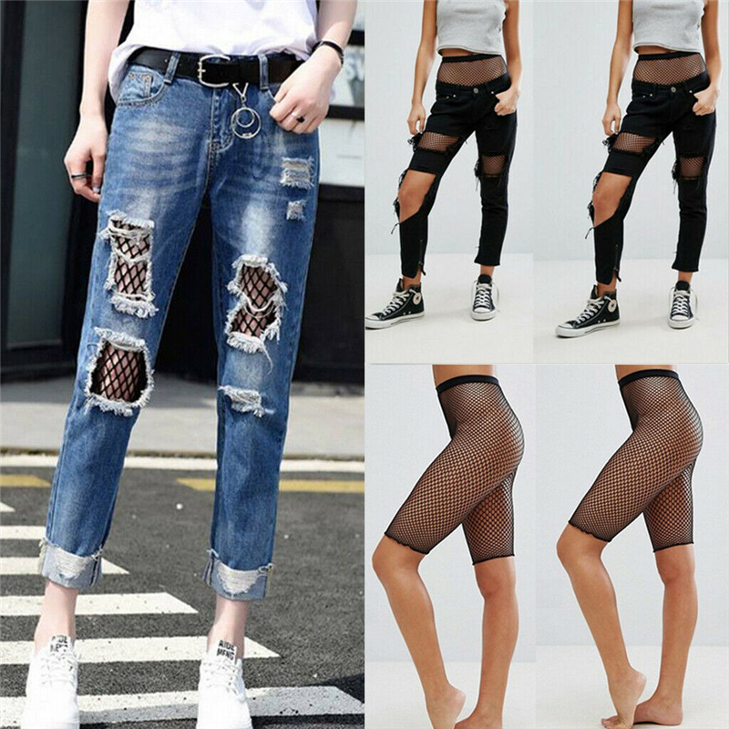 Women Fishnet   Shorts   Fashion Sports Gym Fitness Running Exercise   Shorts   Black Hollow Out High Waist   Short   Trousers Streetwear