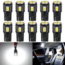 10 шт Светодиодная лампа t10 w5w 194 168 автомобильный светильник