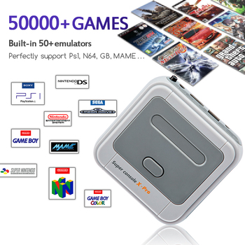 Retro WiFi Super Console X Pro 4K HD TV Video Game Consoles For PS1/PSP/N64/DC With 50000+ Games With 2.4G Wireless Controllers 2