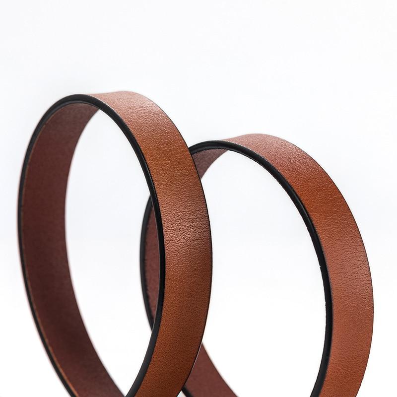 New Thin Cowskin Belt For Women Genuine Leather Waistband Women 39 s Cummerbunds Decorative Gold Smooth Belt Female Luxury Straps in Women 39 s Belts from Apparel Accessories