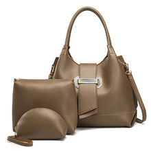 3 Pcs Women Handbag Set Messenger Bag Casual  Ladies Fashion Shoulder Bag Lady PU Leather Female Shopper Tote JS013 levsifun sj 0081 women s fashion 3 in 1 messenger bag tote bag handbag set apricot