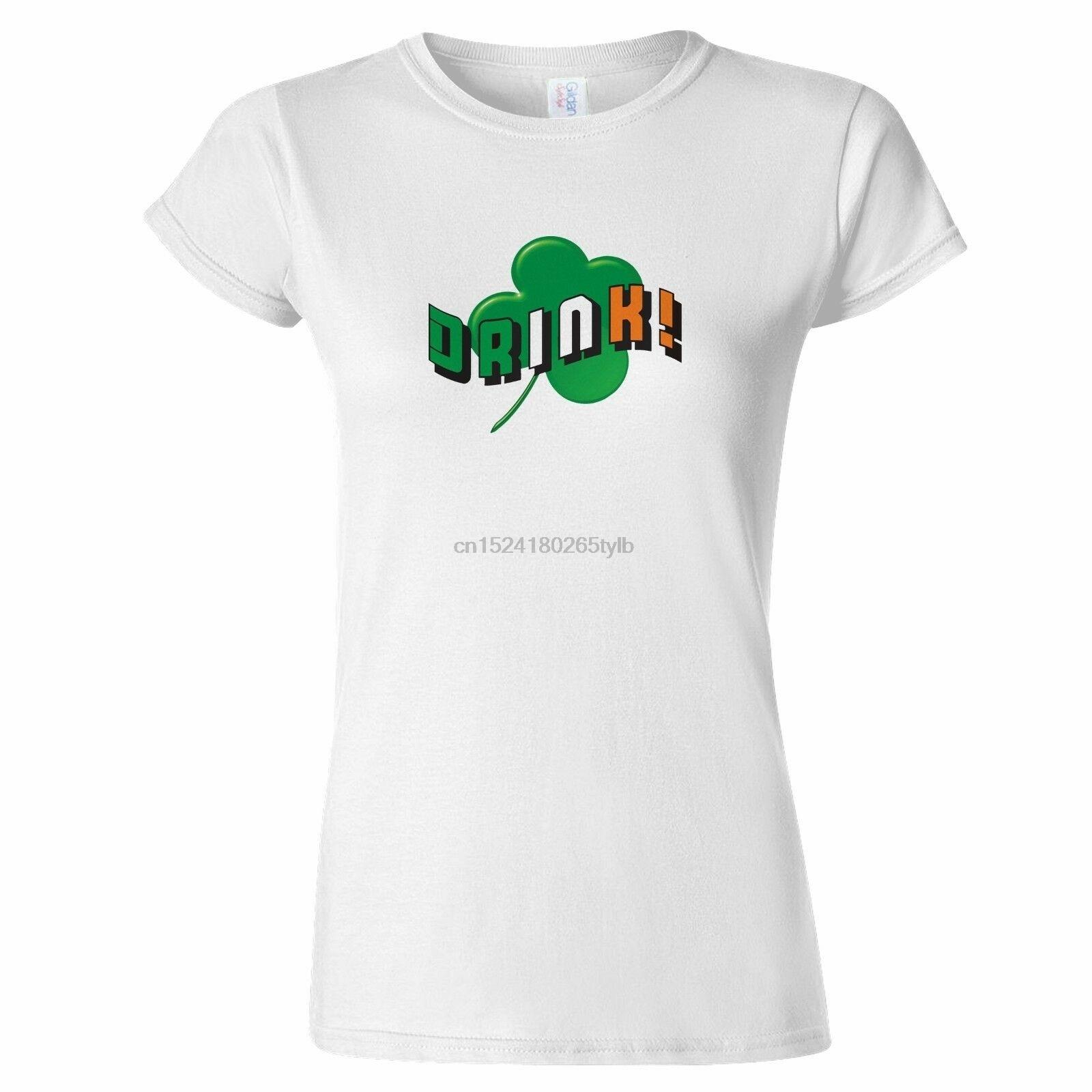 Patrick/'s Day Irish Drinking Clover Women/'s T-Shirt Shamrock Irish Flag St