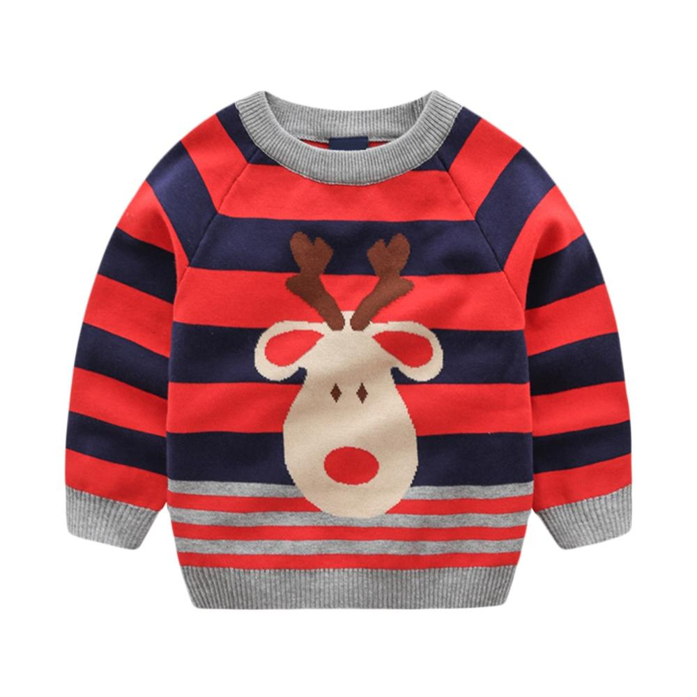 Toddle Baby Adorable Xmas Sweater Cardigans Girls Boys Knitted Jumper Autumn Winter Long Sleeve Pullovers