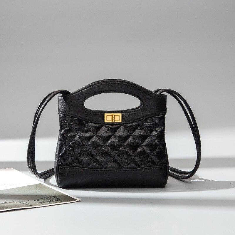 Mode nouveaux sacs à main de haute qualité en cuir PU femmes sac petit encens vent chaîne pastille sac à bandoulière serrure stéréotypes treillis
