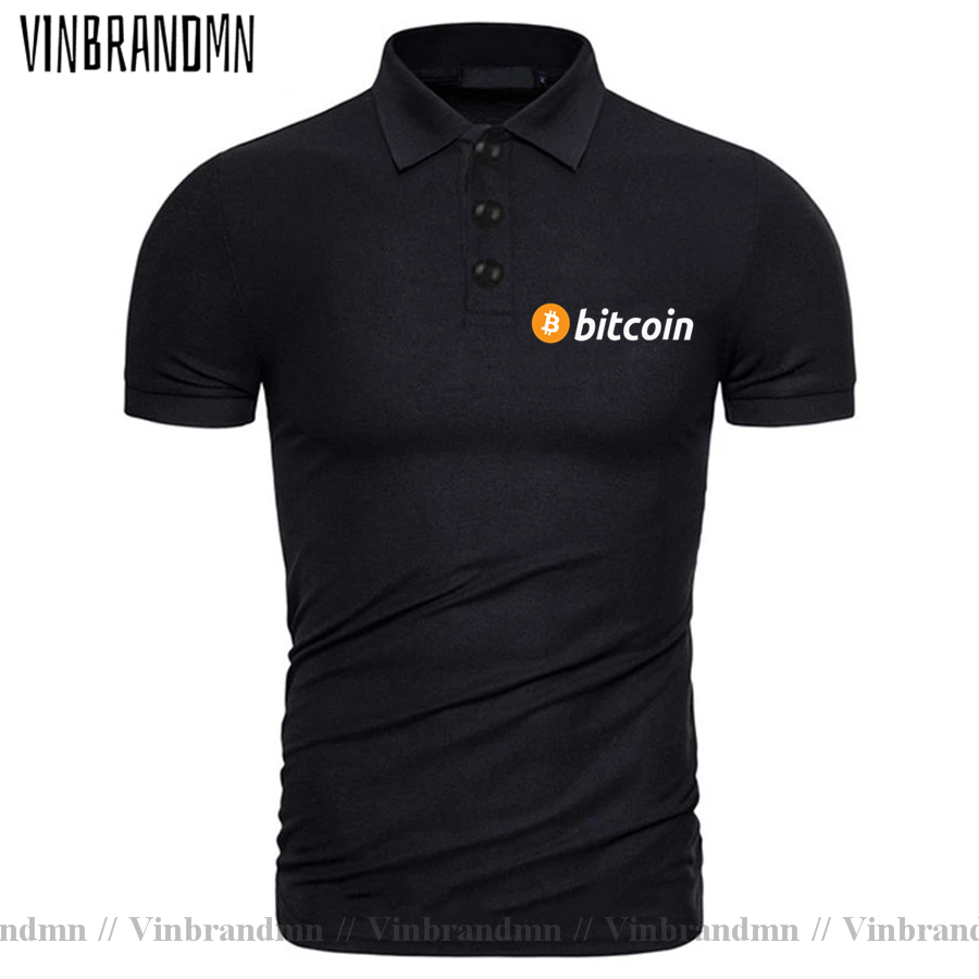 2021 Bitcoin HODL Your Cryptos Cryptocurrency Funny Polo shirt for Men Short Sleeves Clothes New Arrival Tee Shirt 100% Cotton 3