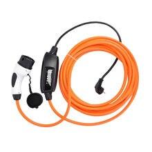DUOSIDA EVSE 16Amp IEC 62196 EV зарядное устройство тип 2 Mennekes EV кабель для зарядки электромобилей EV разъем для автомобиля EU Schuko