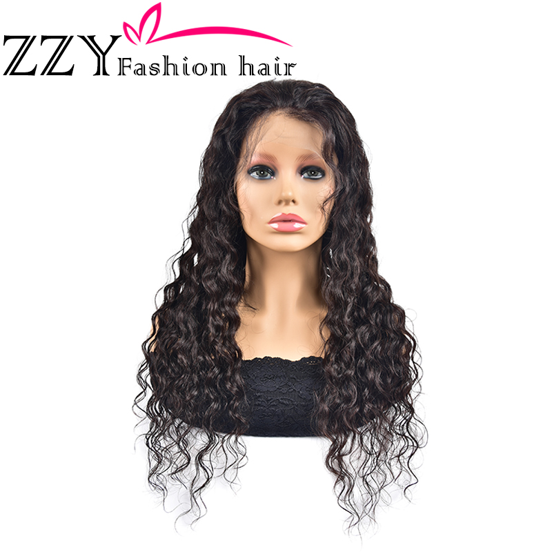 ZZY Fashion Deep Wave Human Hair Wigs 150% Density Brazilian 13x4 Lace Frontal Wig Non-remy Pre Plucked Hairline With Baby Hair