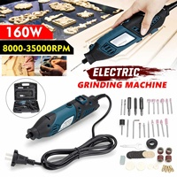 2 in 1 Electric Wood Carving Knife Woodworking Tool 160W 35000RPM Electric Grinder Motor Engraving Machine DIY Hand Tools
