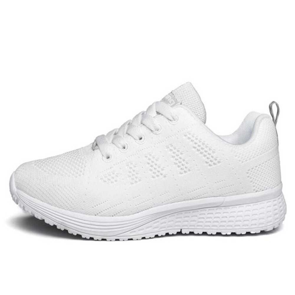 Oddychające trampki z siatką mężczyźni grube buty zasznurować buty sportowe na co dzień para super lekki buty buty trekkingowe y74