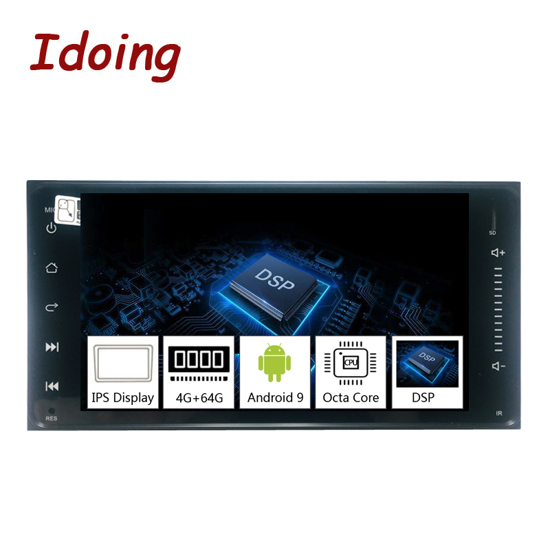 """Idoing 7"""" 1 Din Android 9.0 Car Radio GPS Multimedia Player For Toyota Universal IPS Screen 4G Ram 64G Rom Octa Core NavigationCar Multimedia Player   -"""