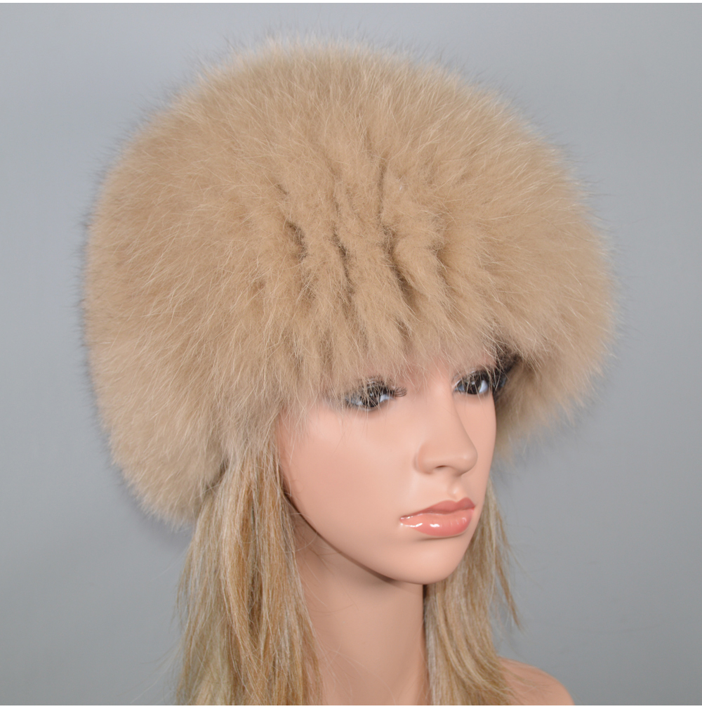 H9d1e1c42ede846a38477f92535042268b - New Luxury 100% Natural Real Fox Fur Hat Women Winter Knitted Real Fox Fur Bomber Cap Girls Warm Soft Fox Fur Beanies Hats