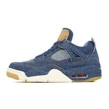 Jordan 4 мужские баскетбольные кроссовки x LES синие белые черные дышащие мужские баскетбольные кроссовки спортивные кроссовки для улицы 41-46