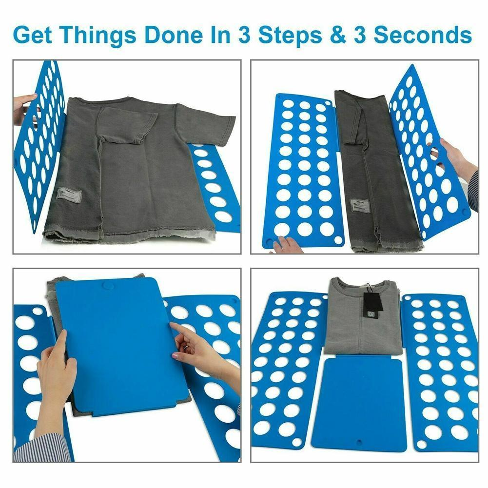 Lazy Man Folding Clothes Board T <font><b>Shirts</b></font> Jumpers <font><b>Organizer</b></font> Quick Board Clothes Organiser Save Time Fold Clothes Folding A3Q6 image