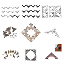 12Pcs/lot Metal Angle Corner Brackets Bronze Notebook Cover For Menus Photo Frame Furniture Decorative Protector