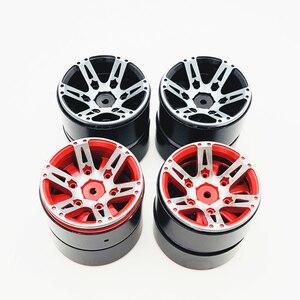 Image 2 - 4Pcs Rc Rock Crawler Felge 1,9 Zoll Beadlock Für 1/10 Axial Scx10 90046 Tamiya Cc01 D90 D110 Tf2 traxxas Trx 4