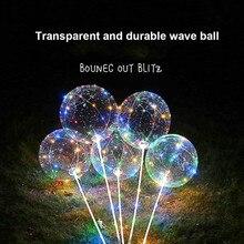 3 шт. многоразовые светящиеся светодиодные воздушные шары прозрачные круглые декоративные пузырьки вечерние свадебные украшения комнаты декор использования АА батареи