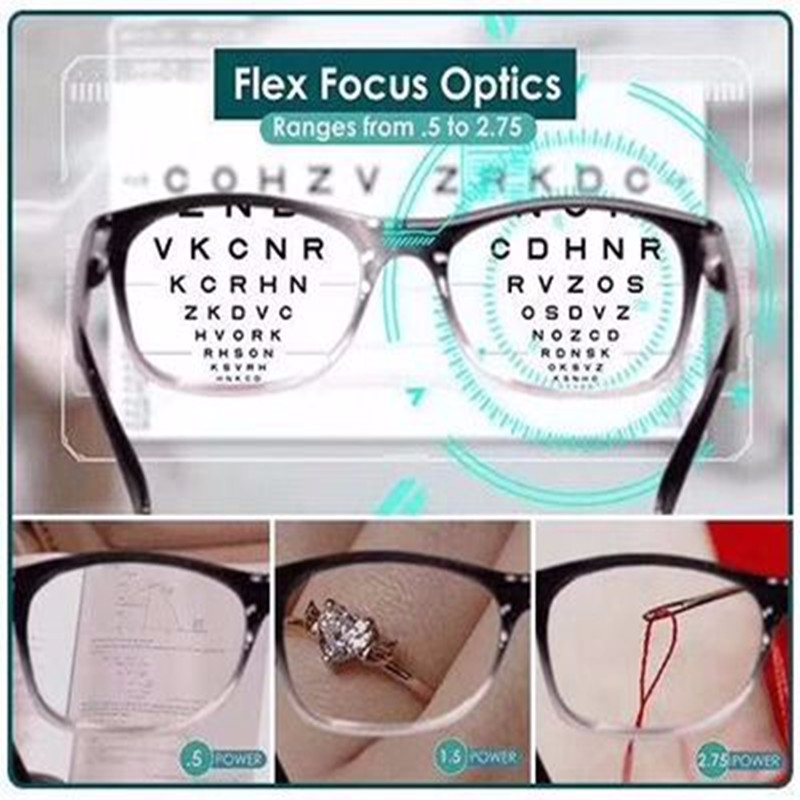 Readers Glasses As Seen On TV Eyeglasses Put Everything Into Clear Focus Auto-Adjusting Reading Glasses Drop Shipping