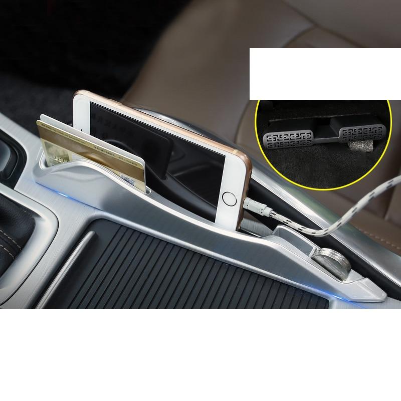 Lsrtw2017 Car Interior Armrest Storage Box Strip for Geely Boyue Atlas 2016 2017 2018 2019 2020 Interior Mouldings Accessories