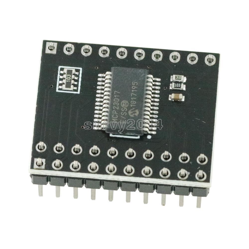 1pcs MCP23017 Serial Interface Module IIC I2C SPI MCP23S17 Bidirectional 16-Bit I/O Expander Pins 10Mhz Serial Interface Module