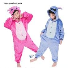 Kigurumi Unisex Adult Blue Pink Stitch Pajamas Animal Onesie One Piece Pyjamas Cosplay Costume Sleepsuit