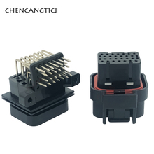цена на 1 set TE AMP SUPERSEAL 26 Pin Way 1mm Sealed Auto Electrical Female Male PCB Computer ECU Connector Plug 3-1437290-8 6437288-4