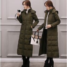 Korean Fashion Coat Women Ultra-light Long Jackets Plus Size Down Jacket Woman Hooded Puffer Coats 3XL