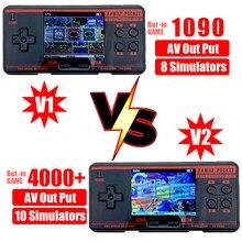 Novo fc3000 handheld game console 8 simulador de tela colorida das crianças jogo console para pxpx7 preto cinza dropshipping
