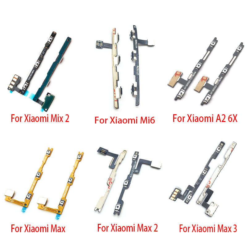 New Power On Off Volume Side Button Key Flex Cable For Xiaomi Mi A1 5X A2 6X 5 5S Plus A2 Lite Max Max2 Max 3 Mix 2 Mix3
