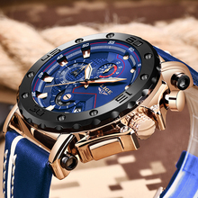 New LIGE Fashion Mens Watches Top Brand Luxury Big Dial Mili