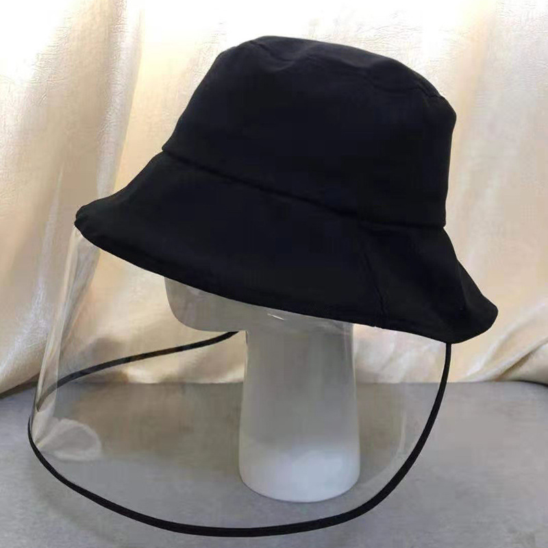 Korean-style New Style Men And Women Anti-droplet Bucket Hat With Mask One-piece Dust Caps College Style Versatile Sun Hat Bucke