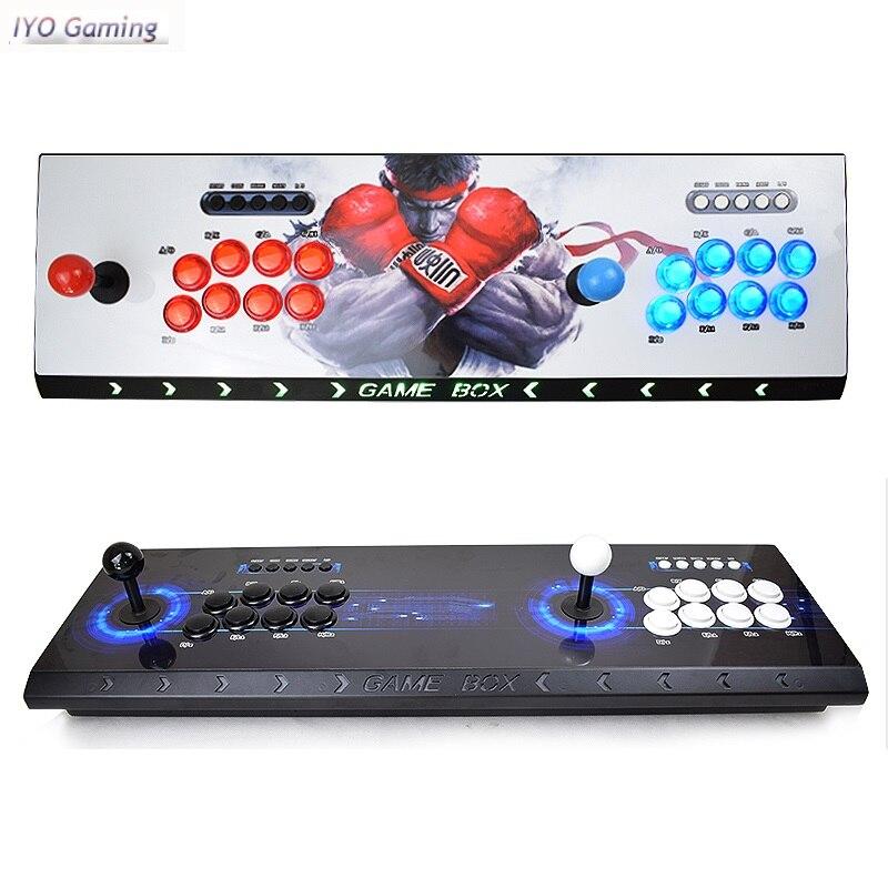 Caixa de arcade pandora 3d 2448 em 1 salvar função zero atraso 8 botões joystick controlador pcb 134 pçs jogos 3d retro arcade console