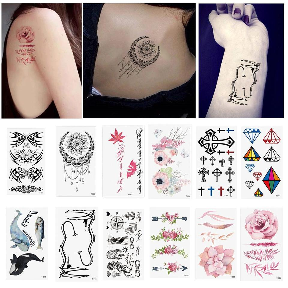 Waterproof Temporary Hand Body Art Tattoo Flower Cross Unisex Sticker Temporary Tattoos For You Are Easy To Apply Temporary Temporary Tattoos Aliexpress