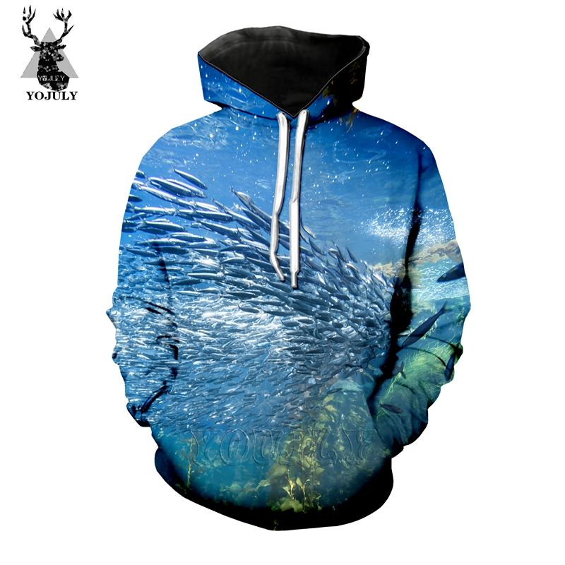 Hot Sale Marine Life Fish T Shirt Fashion Men's Sets 3D Animal Funny T-Shirts/hoodie/Sweatshirt Hip Hop O-neck Streetwear Tops 7