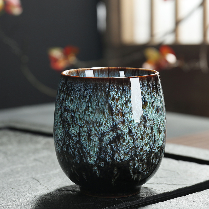JIA-GUI LUO 150ML China Tea Cup Kiln Change Ceramic  Tea Cups  Travel Cup Home Tea Cup Creative Ceramic Cup Tea Set  I057