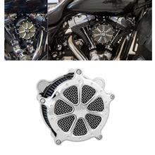 Motorrad Blau Luft Reiniger Intake Filter Alle Chrom Für Harley Touring Street Glide Road King Electra Glide 2020 Softail 2020