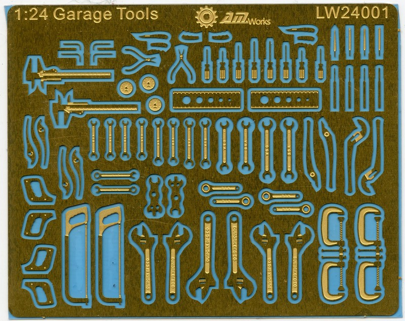 1:24 Scale Mechanic Tools Connectionless Photoetch Fret Size 8X6cm LW24001