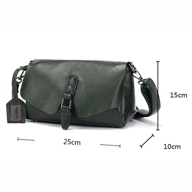 Shell Genuine Leather Crossbody Bag 1