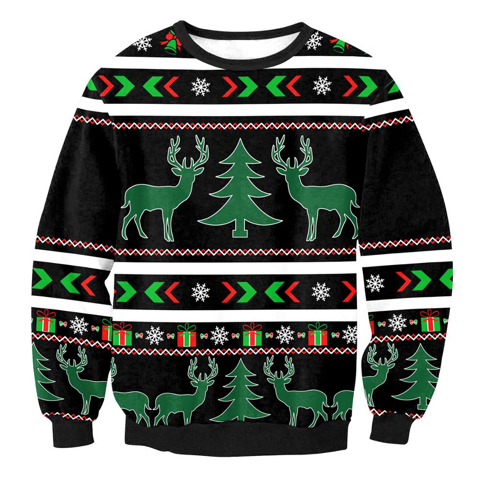 3D Print Santa Elk Couples Christmas Sweaters Ugly Sweater Christmas Men Casual  Winter Female Male Unisex Pullovers Gifts