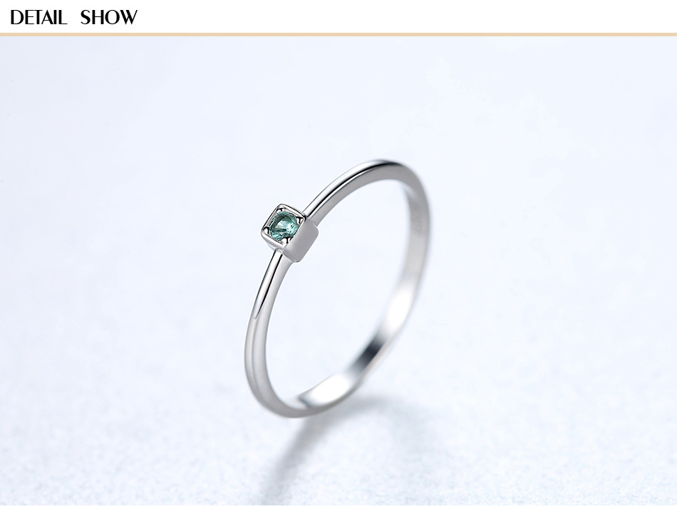 Gem&Time Korean Sterling 925 Silver Green Topaz Solitaire Ring For Women Round Gemstone Engagement Rings Jewelry Anillos Mujer (5)