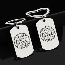 Keychain Man Letter Key Chain Women I Love You To The Moon and Back Key Ring Chain for Pants Pendant Key Holder Fashion Brelok