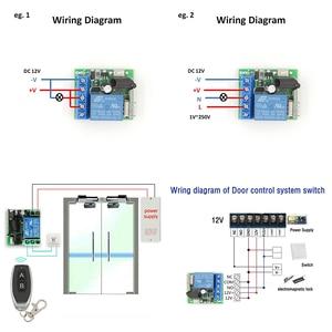 Image 5 - 433 433mhzのユニバーサルリモートコントロールdc 12v 10Amp 1CH rfリレー受信機と送信機用カーテンとガレージドア制御