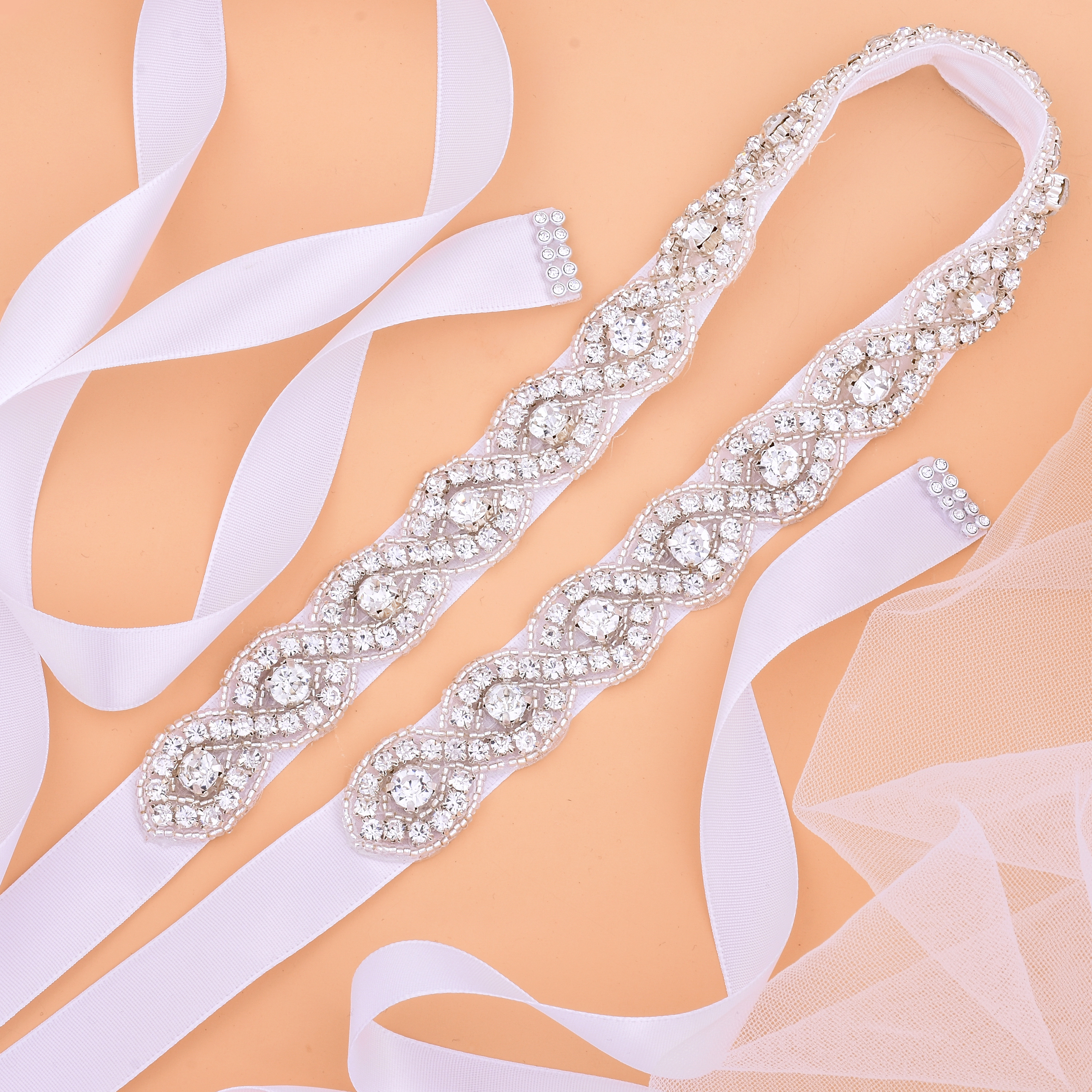 Diamond Wedding Belts Crystal Rhinestones Belts Bridesmaid Bridal Dresses Accessories Waistband Sashes Ceinture Mariage